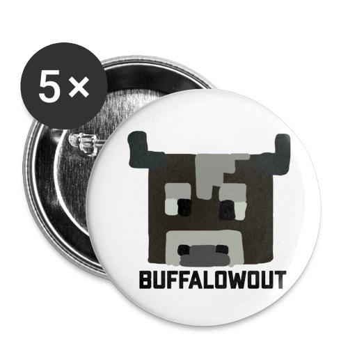 BuffaloWout Merch - Buttons klein 25 mm (5-pack)