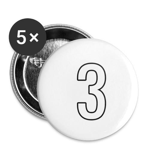3 - Buttons klein 25 mm (5er Pack)