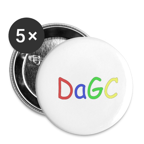 DaGC Comic Sans - Små knappar 25 mm (5-pack)