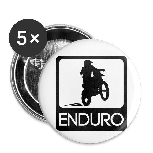 Enduro Rider - Buttons klein 25 mm (5er Pack)
