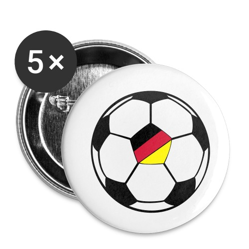 fussball deutschland - Buttons klein 25 mm (5er Pack)