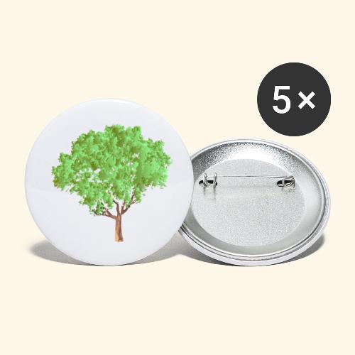 baum 3 - Buttons klein 25 mm (5er Pack)