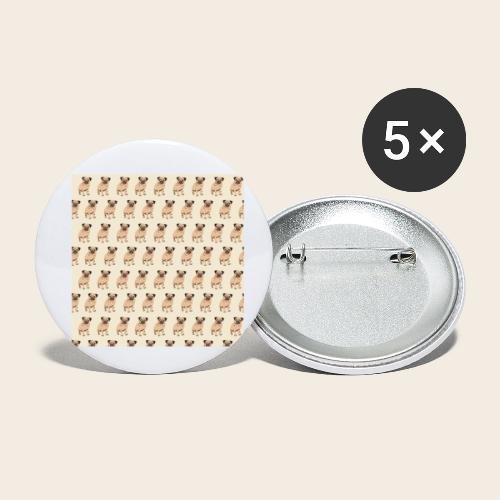 mops muster 2 - Buttons klein 25 mm (5er Pack)