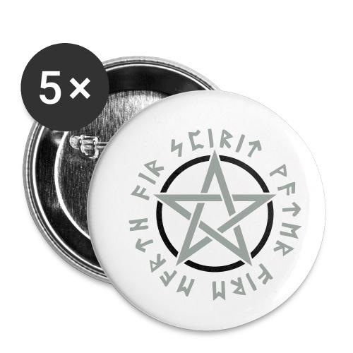 Pentagramm, Elemente, Runen, Magie, Symbol, Stern - Buttons klein 25 mm (5er Pack)