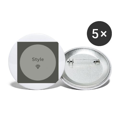 Style - Buttons klein 25 mm (5er Pack)