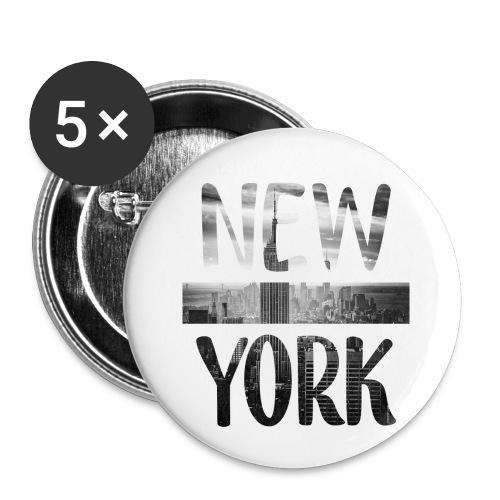 New York - Buttons klein 25 mm (5er Pack)