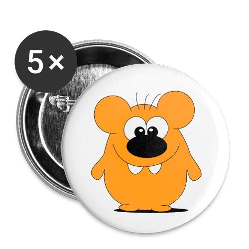 Hamster - Buttons klein 25 mm (5er Pack)