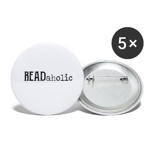 0312 Readaholic Books Book Reading Reader - Buttons small 1''/25 mm (5-pack)