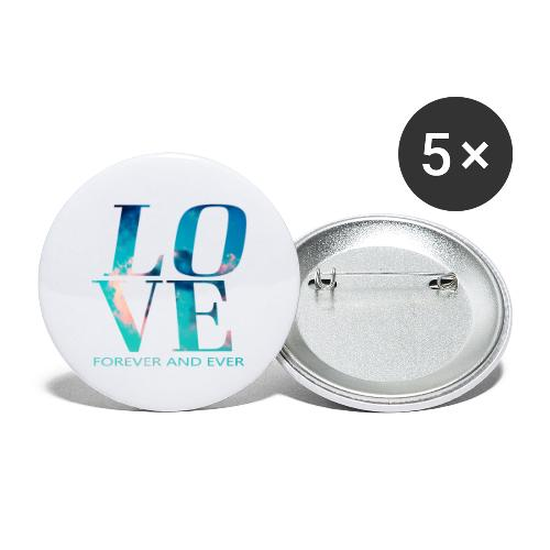 LOVE FOREVER - Buttons klein 25 mm (5er Pack)