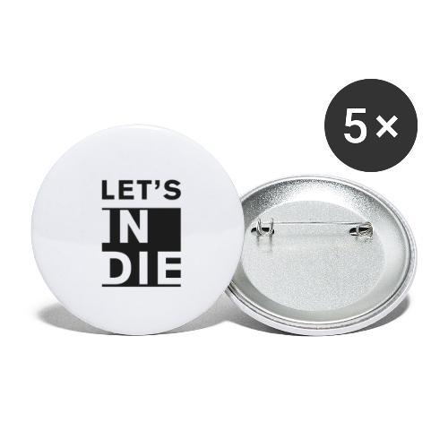 Official LET'S INDIE - Confezione da 5 spille piccole (25 mm)
