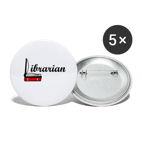0324 Librarian Librarian Library Book - Buttons small 1''/25 mm (5-pack)