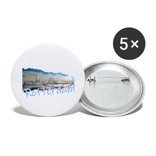Rotterdam - Buttons klein 25 mm (5er Pack)