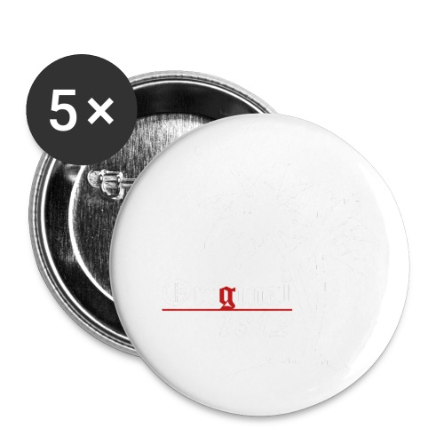 1400x1400 white - Buttons klein 25 mm (5er Pack)