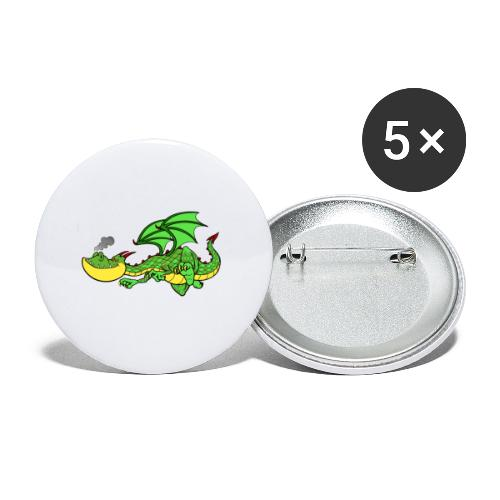 dracarys - Buttons klein 25 mm (5er Pack)