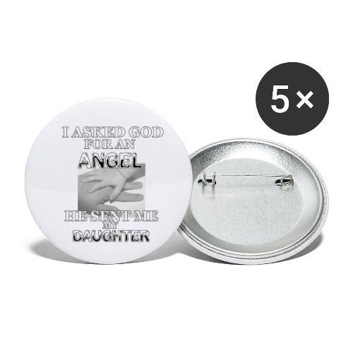 Angel Daughter - Buttons klein 25 mm (5er Pack)