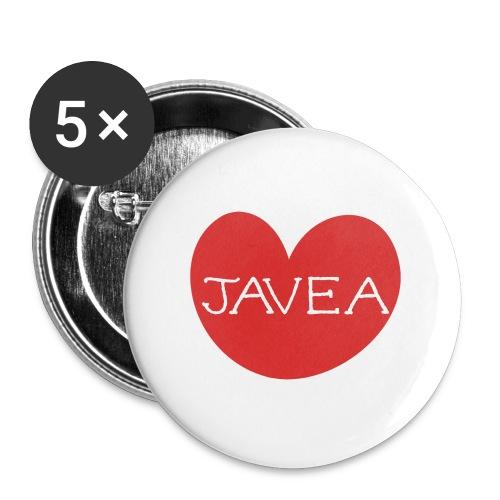 LOVE JAVEA - Paquete de 5 chapas pequeñas (25 mm)