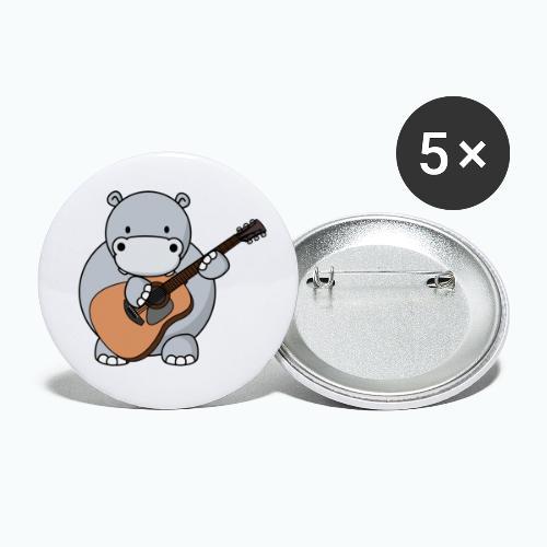 Henri Hippo Guitar - Appelsin - Små knappar 25 mm (5-pack)