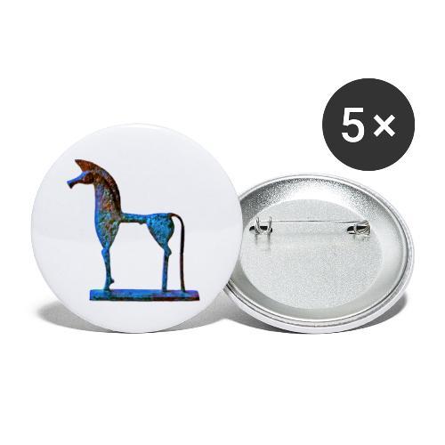 Le cheval grec - Lot de 5 petits badges (25 mm)