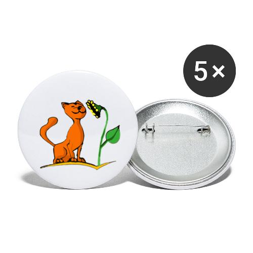 Sunny le chat - Lot de 5 petits badges (25 mm)