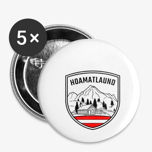 hoamatlaund österreich - Buttons klein 25 mm (5er Pack)