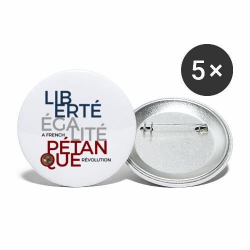 LIBERTE EGALITE PETANQUE - Lot de 5 petits badges (25 mm)