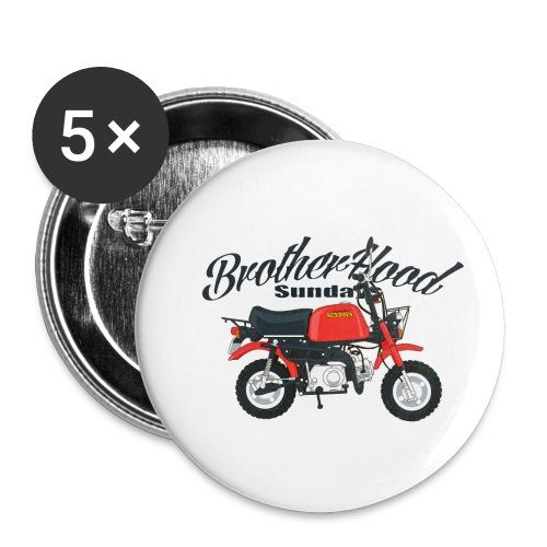 gorilla - Lot de 5 petits badges (25 mm)