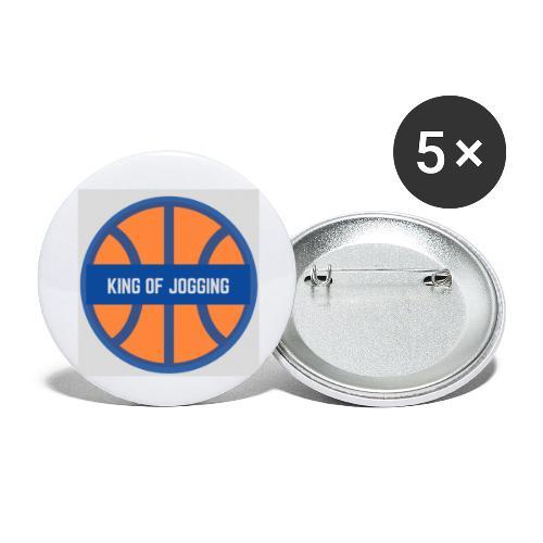 King of JOGGING - Lot de 5 petits badges (25 mm)