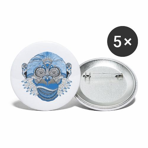 Affe - Buttons klein 25 mm (5er Pack)
