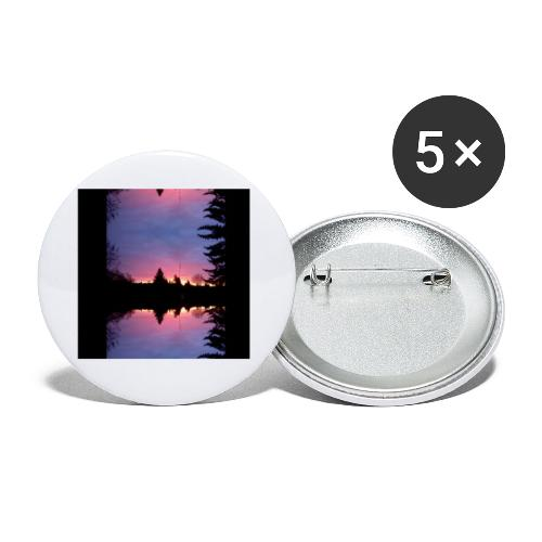 Gott ist Gut - Morgenrot - Buttons klein 25 mm (5er Pack)