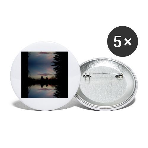 Sonnenhorizont Spiegelung Ufowolke - Buttons klein 25 mm (5er Pack)