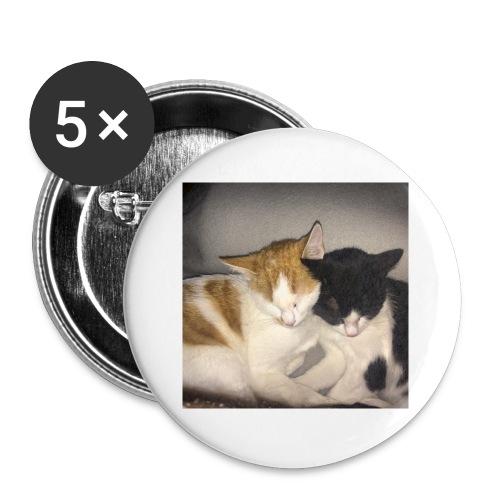Schlafende Kätzchen - Buttons klein 25 mm (5er Pack)