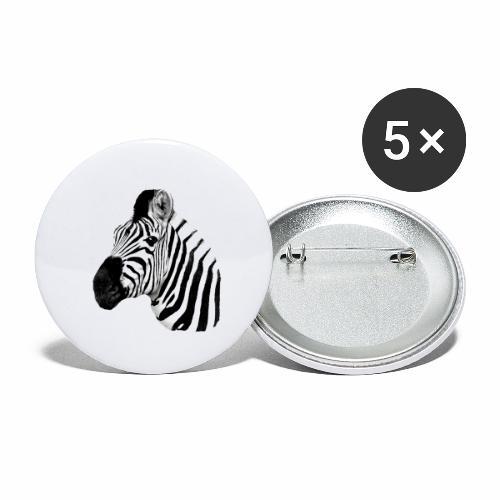 Cooles Zebra - Buttons klein 25 mm (5er Pack)