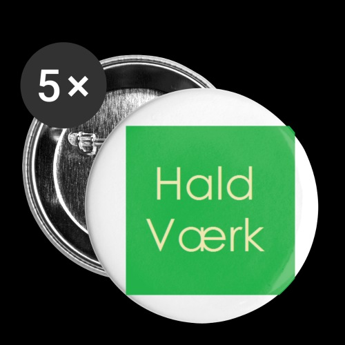Haldværk - Buttons/Badges lille, 25 mm (5-pack)