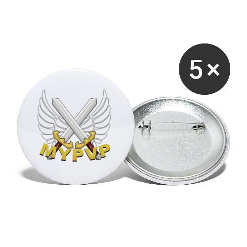 MyPvP - Buttons klein 25 mm (5er Pack)