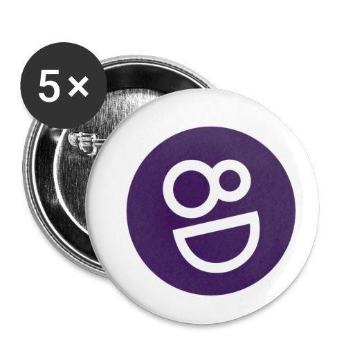 logo 8d - Buttons klein 25 mm (5-pack)