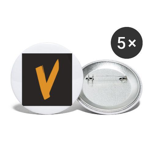 new logo - Buttons klein 25 mm (5er Pack)