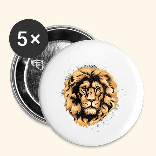 KING LION KUTUXA - Paquete de 5 chapas pequeñas (25 mm)