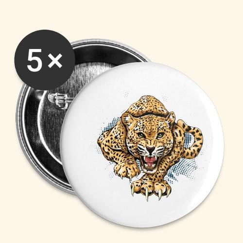 Leopardo KutuXa - Paquete de 5 chapas pequeñas (25 mm)