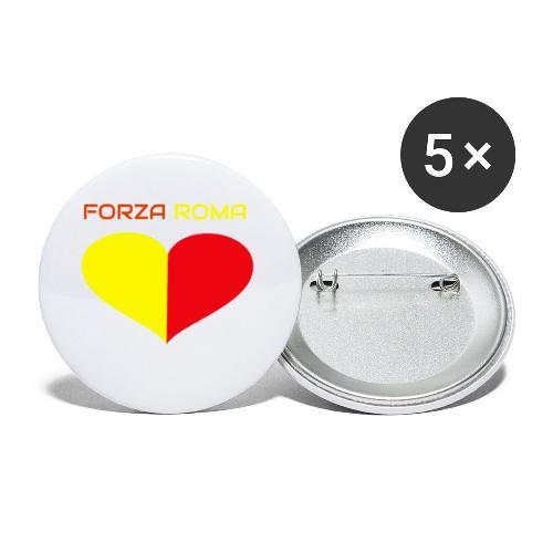 Custodie Iphone e samsung per il cuore giallorosso - Confezione da 5 spille piccole (25 mm)