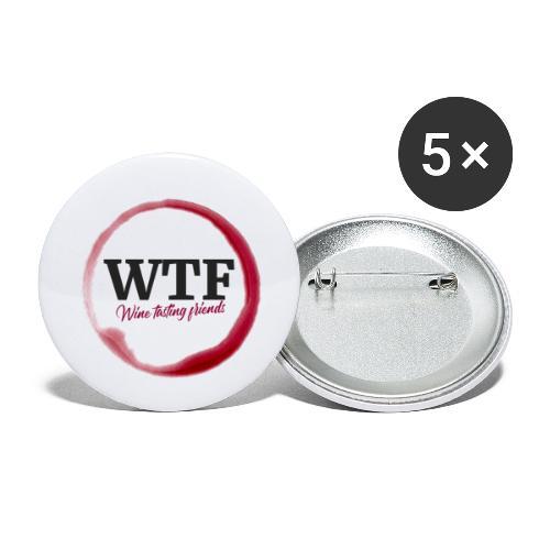 WTF. WineTastingFriends - Weintrinker Alkohol Wein - Buttons klein 25 mm (5er Pack)