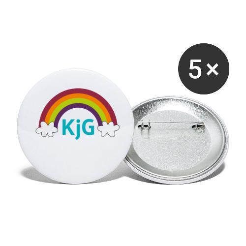 Regenbogen - Buttons klein 25 mm (5er Pack)