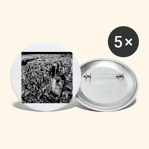 Manhattan a gessetto - Confezione da 5 spille piccole (25 mm)