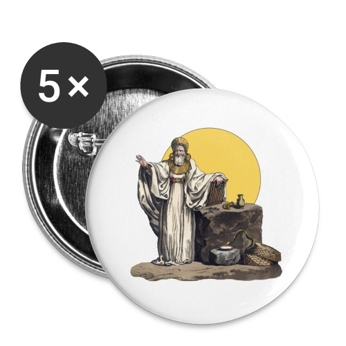 Druido (Sole Luna) - Confezione da 5 spille piccole (25 mm)