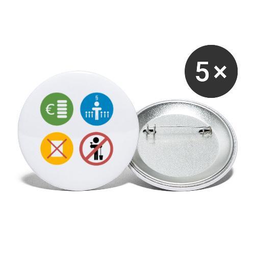 4kriteria obi vierkant - Buttons klein 25 mm (5-pack)