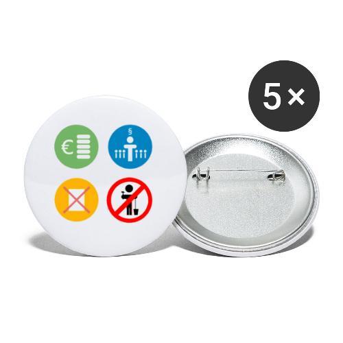 4kriteria ubi vierkant trans - Buttons klein 25 mm (5-pack)