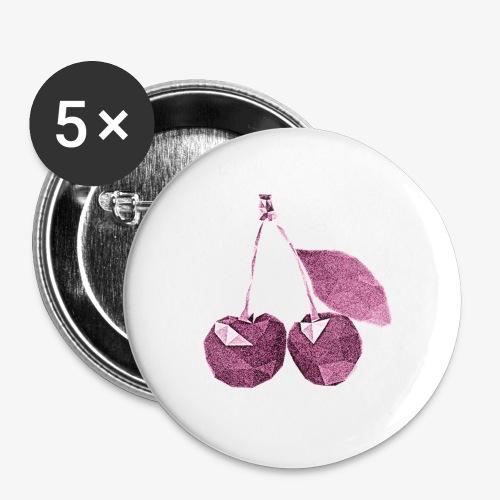 Wiśnie - Przypinka mała 25 mm (pakiet 5 szt.)
