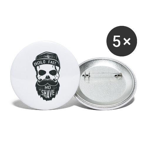 No Shave - Buttons klein 25 mm (5er Pack)