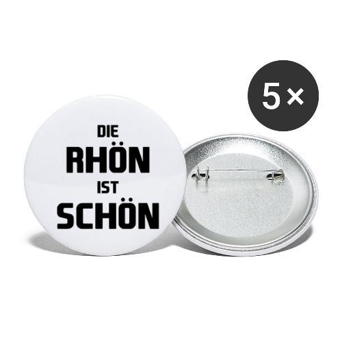 Die Rhön ist Schön! (Schwarz) - Buttons klein 25 mm (5er Pack)