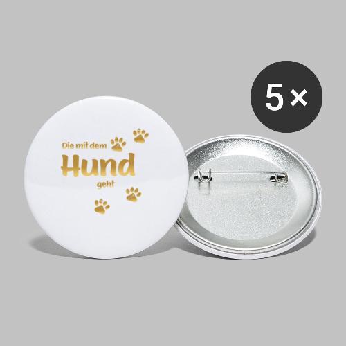 DIE MIT DEM HUND GEHT GOLD EDITION - Buttons klein 25 mm (5er Pack)