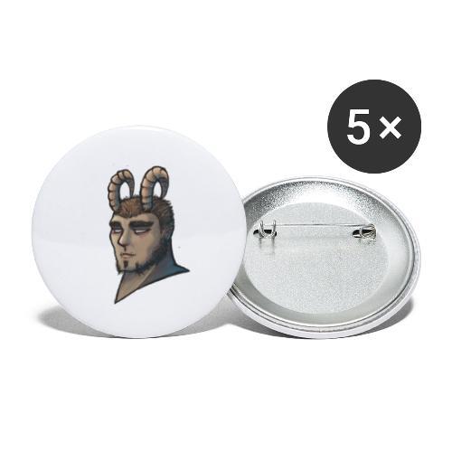 demonio - Paquete de 5 chapas pequeñas (25 mm)